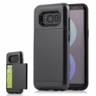 Premium PC, TPU Case with Card Slot for Samsung Galaxy S8 Plus - Black