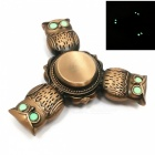 3-Owl Style Luminous Stress Relief Bearing Fidget Spinner - Bronze