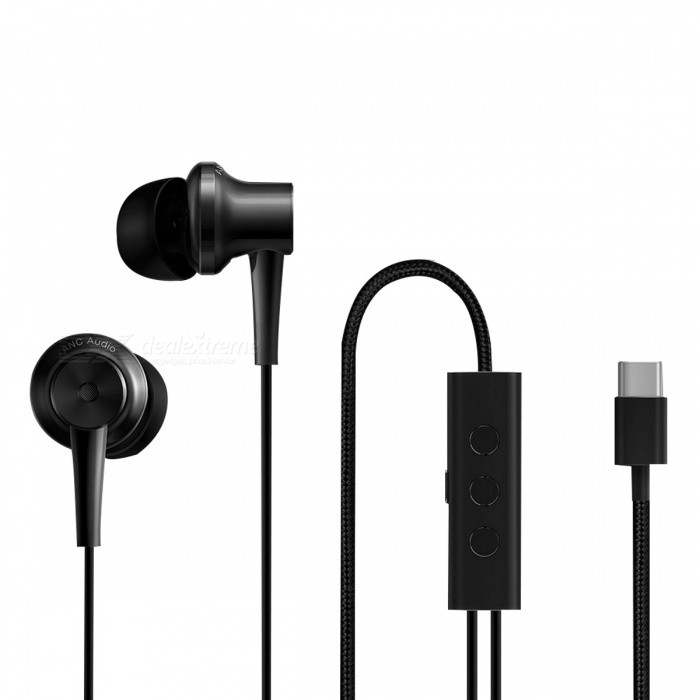 Xiaomi Type-C Version ANC Hybrid Noise Cancelling Earphone - BlackHeadphones<br>Form  ColorBlackBrandXiaomiModelJZEJ01JYMaterialTitaniumQuantity1 DX.PCM.Model.AttributeModel.UnitConnectionOthers,Type-CBluetooth VersionNoOperating Range1.25MConnects Two Phones SimultaneouslyNoCable Length1.25 DX.PCM.Model.AttributeModel.UnitLeft &amp; Right Cables TypeEqual LengthHeadphone StyleOthers,Ear styleWaterproof LevelIPX0 (Not Protected)Applicable ProductsUniversalHeadphone FeaturesPhone Control,Noise-Canceling,With Microphone,Lightweight,Portable,Game Headset,For Sports &amp; ExerciseSupport Memory CardNoSupport Apt-XNoPacking List1 x Earphone6 x Earplugs4 x Headset sets1 x Bag1 x Manual (Simplified Chinese)<br>