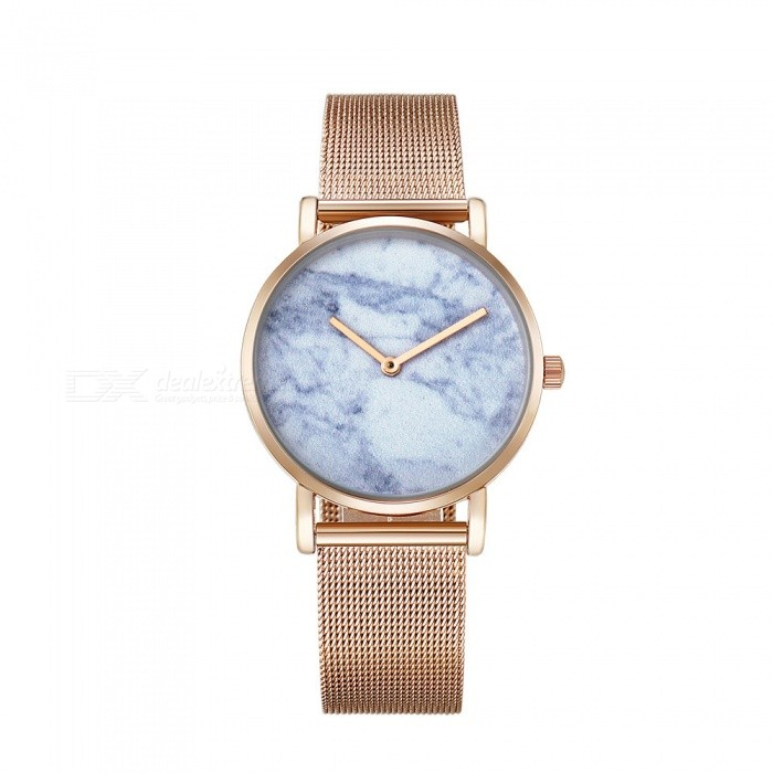 CAGARNY 6812 Womens Marble Pattern Quartz Watch - Rose GoldWomens Dress Watches<br>Form  ColorRose GoldModel6812Quantity1 DX.PCM.Model.AttributeModel.UnitShade Of ColorGoldCasing MaterialAlloy + IP platedWristband MaterialStainless steelGenderWomenSuitable forAdultsStyleWrist WatchTypeFashion watchesDisplayAnalogBacklightNoMovementQuartzDisplay Format12 hour formatWater ResistantFor daily wear. Suitable for everyday use. Wearable while water is being splashed but not under any pressure.Dial Diameter3.6 DX.PCM.Model.AttributeModel.UnitDial Thickness0.8 DX.PCM.Model.AttributeModel.UnitBand Width1.8 DX.PCM.Model.AttributeModel.UnitWristband Length25.5 DX.PCM.Model.AttributeModel.UnitBatterysr626sw/1pcPacking List1 x Watch<br>