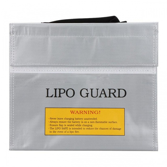 ENGPOW 215x45x165mm Fireproof Explosion-Proof Lipo Battery Bag -Silver