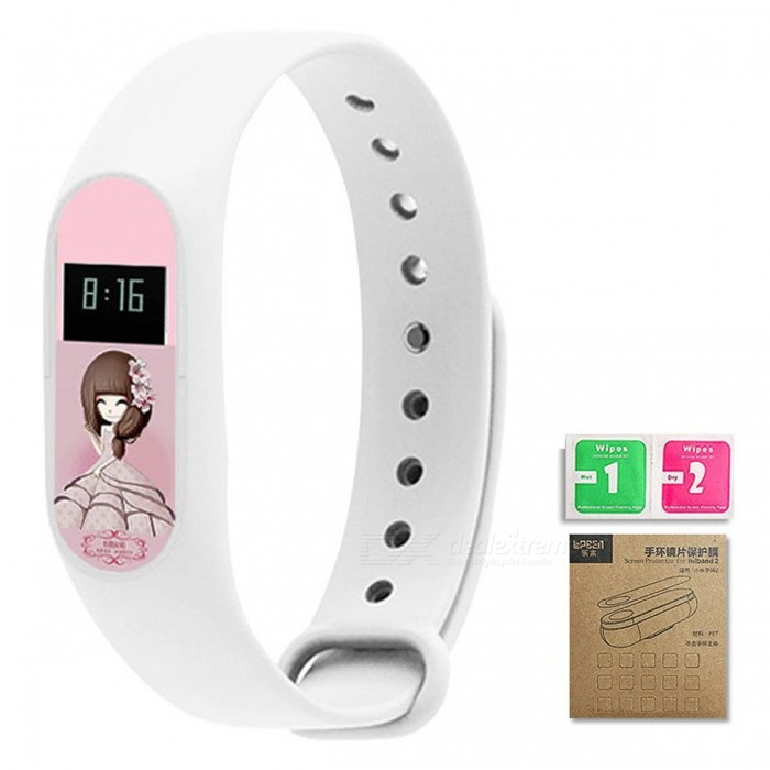 LOPBE HD Protective Film for Xiaomi Miband 2 Smart - Sakura Pink (E)Wearable Device Accessories<br>Form  ColorSakura Pink (E)Quantity1 DX.PCM.Model.AttributeModel.UnitMaterialABSPacking List1 x Colour film1 x Wet &amp; Dry wipes with corrugated box<br>