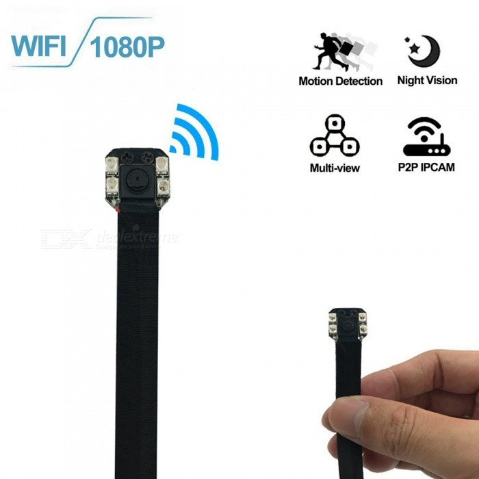 Mini Wi-Fi HD 1080P DIY Pinhole Hidden Camera ModuleCCTV Cameras<br>Form  ColorBlackMaterialABSQuantity1 DX.PCM.Model.AttributeModel.UnitImage SensorCMOSPower AdapterUSBPacking List1 x Mini DIY Camera Module1 x USB Charging Cable1 x Rechargeable Battery1 x Users manual1 x CD (contain PC software)<br>