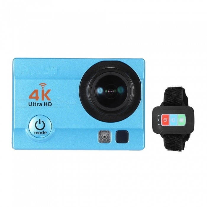 32GB 2 HD LCD Screen 4K 30fps 16MP Wi-Fi Sports Action Camera - BlueSport Cameras<br>Form  ColorBlue + Black + 32GB Memory Shade Of ColorBlueMaterialABSQuantity1 DX.PCM.Model.AttributeModel.UnitImage SensorOthers,ov4689Anti-ShakeYesFocal DistancePhotographed function: Panoramic (5M/8M/12M/16M) DX.PCM.Model.AttributeModel.UnitFocusing RangePhotographed function: Panoramic (5M/8M/12M/16M)Built-in SpeedliteYesEffective Pixels4K 30fps, 2.7K 30fps, 1920 * 1080P 60/30fps, 1280 * 720p 90/60/30fpsImagesJPGStill Image Resolution12M(4032 x 3024), 10M(3648 x 2736), 8M(3264 x 2448)/ 6M(2000 x 3000), 5M(2592 x 1994), 3M(2048 x 1536), 2MHD(1920 x 1080), VGA(640 x 480)VideoMOVVideo Resolution4K 30fps, 2.7K 30fps, 1920 * 1080P 60/30fps, 1280 * 720p 90/60/30fpsVideo Frame Rate30,60Cycle RecordYesISONoExposure CompensationOthers,-3/-2/-1/0/+1/+2/+3)Supports Card TypeSDSupports Max. Capacity64 DX.PCM.Model.AttributeModel.UnitBuilt-in Memory / RAMNoLCD ScreenYesBattery Measured Capacity 900 DX.PCM.Model.AttributeModel.UnitNominal Capacity900 DX.PCM.Model.AttributeModel.UnitBattery included or notYesPacking List1 x Action Camera with Battery1 x 32GB Memory 1 x Remote Control1 x Waterproof Case1 x Waterproof Case Back Door1 x USB Cable1 x J-shape Mount1 x Bicycle Mount2 x Helmet Mounts1 x Bracket1 x Clip1 x Fix Base3 x Switch Supports2 x Adhesive Tapes1 x Wire4 x Ties4 x Bandages1 x Cleaning Cloth1 x User Manual(English)<br>