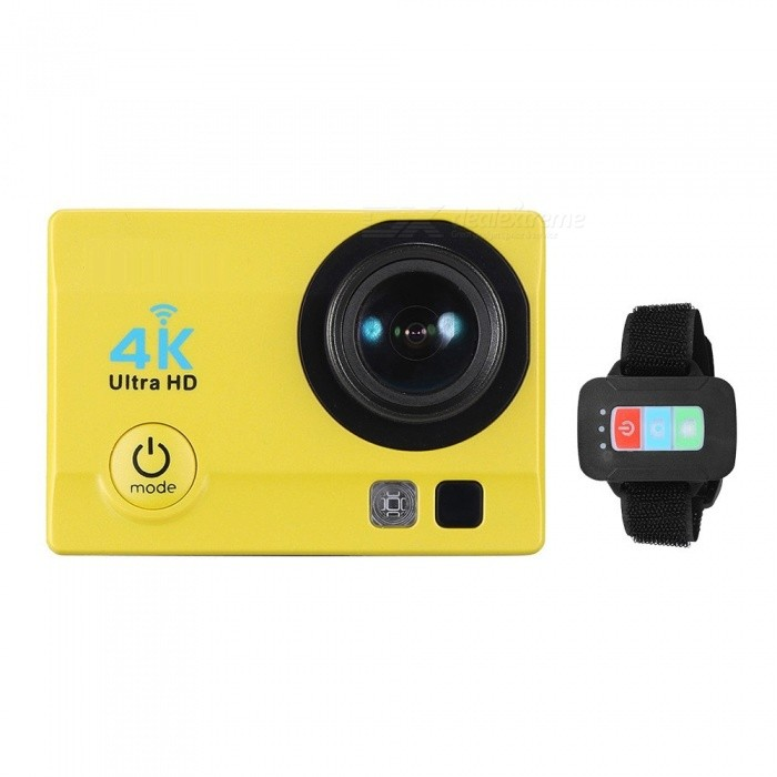 32GB 2 HD LCD Screen 4K 30fps 16MP Wi-Fi Sports Camera - YellowSport Cameras<br>Form  ColorYellow + Black + 32GB Memory Shade Of ColorYellowMaterialABSQuantity1 DX.PCM.Model.AttributeModel.UnitImage SensorOthers,ov4689Anti-ShakeYesFocal DistancePhotographed function: Panoramic (5M/8M/12M/16M) DX.PCM.Model.AttributeModel.UnitFocusing RangePhotographed function: Panoramic (5M/8M/12M/16M)Built-in SpeedliteYesEffective Pixels4K 30fps, 2.7K 30fps, 1920 * 1080P 60/30fps, 1280 * 720p 90/60/30fpsImagesJPGStill Image Resolution12M(4032 x 3024), 10M(3648 x 2736), 8M(3264 x 2448)/ 6M(2000 x 3000), 5M(2592 x 1994), 3M(2048 x 1536), 2MHD(1920 x 1080), VGA(640 x 480)VideoMOVVideo Resolution4K 30fps, 2.7K 30fps, 1920 x 1080P 60/30fps, 1280 x 720p 90/60/30fpsVideo Frame Rate30,60Cycle RecordYesISONoExposure CompensationOthers,-3/-2/-1/0/+1/+2/+3)Supports Card TypeSDSupports Max. Capacity64 DX.PCM.Model.AttributeModel.UnitBuilt-in Memory / RAMNoLCD ScreenYesBattery Measured Capacity 900 DX.PCM.Model.AttributeModel.UnitNominal Capacity900 DX.PCM.Model.AttributeModel.UnitBattery included or notYesPacking List1 x Action Camera with Battery1 x 32GB Memory 1 x Remote Control1 x Waterproof Case1 x Waterproof Case Back Door1 x USB Cable1 x J-shape Mount1 x Bicycle Mount2 x Helmet Mounts1 x Bracket1 x Clip1 x Fix Base3 x Switch Supports2 x Adhesive Tapes1 x Wire4 x Ties4 x Bandages1 x Cleaning Cloth1 x User Manual(English)<br>
