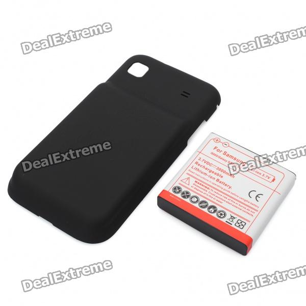 3.7V 3000mAh High Capacity Battery Pack with Back Cover for Samsung i9000/Galaxy S