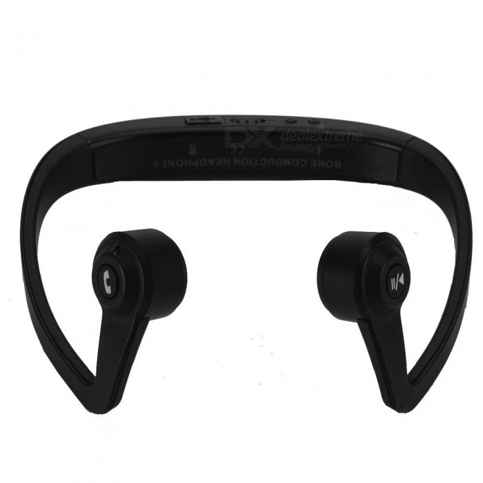 LANGMAO Bone Conduction Wireless Bluetooth Stereo Sports HeadphoneHeadphones<br>Form  ColorBlackBrandOthers,LANGMAOModelL001MaterialABSQuantity1 DX.PCM.Model.AttributeModel.UnitConnectionBluetoothBluetooth VersionBluetooth V4.2Bluetooth ChipISSC1681SOperating Range10MConnects Two Phones SimultaneouslyNoLeft &amp; Right Cables TypeEqual LengthHeadphone StyleNeckbandWaterproof LevelIP67Applicable ProductsUniversal,Others,IPHONE 7,IPHONE 7 PLUSHeadphone FeaturesHiFi,Phone Control,Long Time Standby,Noise-Canceling,Volume Control,With MicrophoneRadio TunerYesSupport Memory CardNoSupport Apt-XYesChannels2.0SNR-41dB +/- 3dBSensitivity100 +/- 3dBBuilt-in Battery Capacity 220 DX.PCM.Model.AttributeModel.UnitStandby Time10 DX.PCM.Model.AttributeModel.UnitTalk Time6 DX.PCM.Model.AttributeModel.UnitMusic Play Time5 DX.PCM.Model.AttributeModel.UnitPower SupplyDC 5V output 150mahPacking List1 x Headset1 x USB Cable1 x User manual<br>