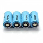 Soshine 500mAh 3.2V LiFePO4 RCR123 16340 Batterien (4 PCS)