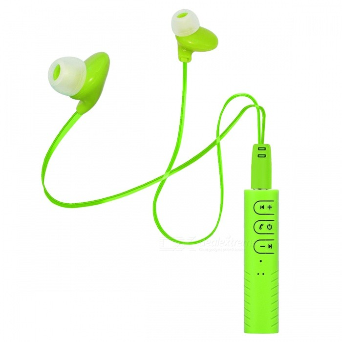 Wireless Bluetooth 4.1 Sports In-Ear Earphone - GreenHeadphones<br>Form  ColorGreenBrandOthers,NoMaterialABSQuantity1 DX.PCM.Model.AttributeModel.UnitConnectionBluetoothBluetooth VersionBluetooth V4.1Connects Two Phones SimultaneouslyYesHeadphone StyleIn-EarWaterproof LevelIPX2Applicable ProductsUniversalHeadphone FeaturesHiFi,Volume Control,With Microphone,Portable,For Sports &amp; ExerciseRadio TunerNoSupport Memory CardNoSupport Apt-XYesChannels2.1Form  ColorGreenPacking List1 x USB Cable 1 x Sports Earphone1 x Chinese and English User Manual<br>
