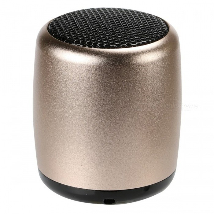 KELIMA BM3 Mini Bluetooth Wireless Speaker Subwoofer - GoldenBluetooth Speakers<br>Form  ColorGoldenModelBM3MaterialMetalQuantity1 DX.PCM.Model.AttributeModel.UnitShade Of ColorGoldBluetooth HandsfreeYesBluetooth VersionBluetooth V3.0Operating Range10MSNR90DBFrequency Response20HZ-20KHZApplicable ProductsUniversalBuilt-in Battery Capacity 300 DX.PCM.Model.AttributeModel.UnitBattery TypeLi-polymer batteryPower AdapterUSBPower Supply5VPacking List1 x Mini speaker1 x USB cable1 x Lanyard<br>