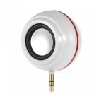 2-in-1 plug type speaker, fill light for self-timer - white
