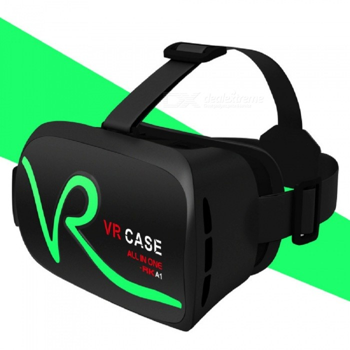 RK-A1 VR 3D Glasses for 4~5.8 Mobile Phones - Green3D Glasses<br>Form  ColorBlack + GreenModelRK-A1MaterialPlasticQuantity1 pieceShade Of ColorBlackTypeOthersPowered ByOthersBattery LifeN/A hourPacking List1 x 3D Glasses<br>