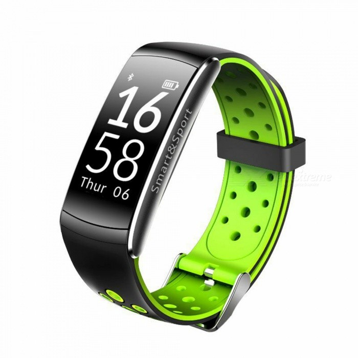Q8 Bluetooth Smart Bracelet with Pedometer, Heart Rate Monitor - GreenSmart Bracelets<br>Form  ColorBlack + GreenQuantity1 pieceMaterialABSShade Of ColorBlackWater-proofIP68Bluetooth VersionBluetooth V4.0Touch Screen TypeYesCompatible OSIOS 7.1 and Above, Android 4.4 and AboveBattery Capacity70 mAhBattery TypeLi-polymer batteryStandby Time10 daysPacking List1 x Q8 Smart Bracelet 1 x User manual<br>