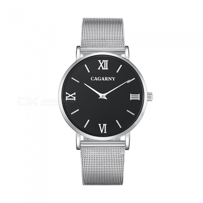 CAGARNY 6812 Fashion Ultra Thin Mens Quartz Watch - SilverQuartz Watches<br>Form  ColorMens (White + Silver)Model6812Quantity1 pieceShade Of ColorWhiteCasing MaterialAlloy + IP platedWristband MaterialStainless steelSuitable forAdultsGenderMenStyleWrist WatchTypeFashion watchesDisplayAnalogBacklightNoMovementQuartzDisplay Format12 hour formatWater ResistantFor daily wear. Suitable for everyday use. Wearable while water is being splashed but not under any pressure.Dial Diameter4 cmDial Thickness0.8 cmWristband Length25.5 cmBand Width2 cmBatterysr626sw/1pcPacking List1 x Watch<br>