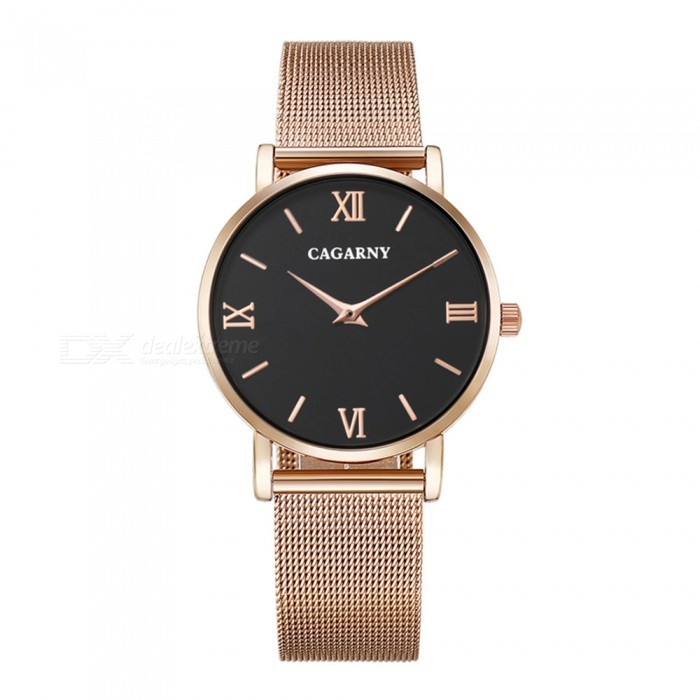 CAGARNY 6812 Fashion Ultra Thin Mens Quartz Watch - Rose GoldQuartz Watches<br>Form  ColorMens (Black + Rose Gold)Model6812Quantity1 DX.PCM.Model.AttributeModel.UnitShade Of ColorBlackCasing MaterialAlloy + IP platedWristband MaterialStainless steelSuitable forAdultsGenderMenStyleWrist WatchTypeFashion watchesDisplayAnalogBacklightNoMovementQuartzDisplay Format12 hour formatWater ResistantFor daily wear. Suitable for everyday use. Wearable while water is being splashed but not under any pressure.Dial Diameter4 DX.PCM.Model.AttributeModel.UnitDial Thickness0.8 DX.PCM.Model.AttributeModel.UnitWristband Length25.5 DX.PCM.Model.AttributeModel.UnitBand Width2 DX.PCM.Model.AttributeModel.UnitBatterysr626sw/1pcPacking List1 x Watch<br>