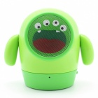 Haut-parleur de subwoofer mini Cartoon Cartoon Cute - vert
