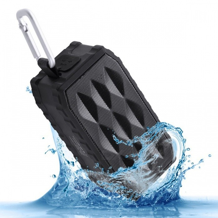 Outdoor Portable Waterproof Super Bass Bluetooth 4.0 Speaker - BlackBluetooth Speakers<br>Form  ColorBlackModelBQ605MaterialABS + PCQuantity1 DX.PCM.Model.AttributeModel.UnitShade Of ColorBlackBluetooth HandsfreeYesBluetooth VersionBluetooth V4.0Operating Range10MTotal Power8 DX.PCM.Model.AttributeModel.UnitChannels2.0Interface3.5mmMicrophoneYesSNR85 dBSensitivity96 dBFrequency Response85Hz-20KHzImpedance4 DX.PCM.Model.AttributeModel.UnitApplicable ProductsIPHONE 5,IPHONE 4,IPHONE 4S,IPHONE 3G,IPHONE 3GS,Universal,Cellphone,MP4,Tablet PCRadio TunerNoSupports Card TypeMicroSD (TF)Max Extended Capacity32GBBuilt-in Battery Capacity 2000 DX.PCM.Model.AttributeModel.UnitBattery TypeLi-polymer batteryTalk Time8 DX.PCM.Model.AttributeModel.UnitStandby Time7 DX.PCM.Model.AttributeModel.UnitMusic Play Time12 DX.PCM.Model.AttributeModel.UnitPower AdapterUSBPower Supply5V 500mAPacking List1 x Bluetooth Speaker1 x 3.5mm Audio cable1 x Charging cable1 x Hanging buckle<br>