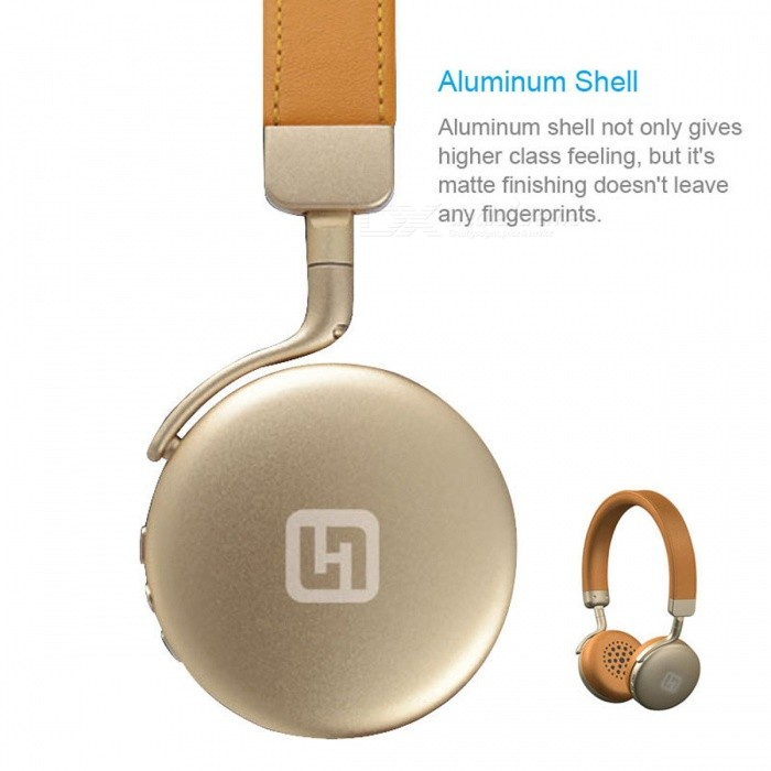 IN-Color Aluminum Shell Bluetooth Headband Headphone - CoffeeHeadphones<br>Form  ColorCoffee + Light BrownBrandOthers,IN-ColorMaterialMetal + PUQuantity1 DX.PCM.Model.AttributeModel.UnitConnectionBluetoothBluetooth VersionBluetooth V4.1Bluetooth ChipCSR8635Operating Range10mConnects Two Phones SimultaneouslyYesCable Length70 DX.PCM.Model.AttributeModel.UnitLeft &amp; Right Cables TypeEqual LengthHeadphone StyleHeadbandWaterproof LevelIPX0 (Not Protected)Applicable ProductsUniversalHeadphone FeaturesLong Time Standby,With Microphone,LightweightRadio TunerNoSupport Memory CardNoSupport Apt-XYesChannels6.1SNR90Sensitivity-42dBFrequency Response2.4GHz~2.8GHzImpedance32 DX.PCM.Model.AttributeModel.UnitDriver UnitN40Battery TypeLi-ion batteryBuilt-in Battery Capacity 220 DX.PCM.Model.AttributeModel.UnitStandby Time26 DX.PCM.Model.AttributeModel.UnitTalk Time12 DX.PCM.Model.AttributeModel.UnitMusic Play Time12 DX.PCM.Model.AttributeModel.UnitPower AdapterUSBPacking List1 x Bluetooth Headphone1 x USB Charger Cable(70cm)1 x Audio Cable(90cm)1 x User Manual<br>