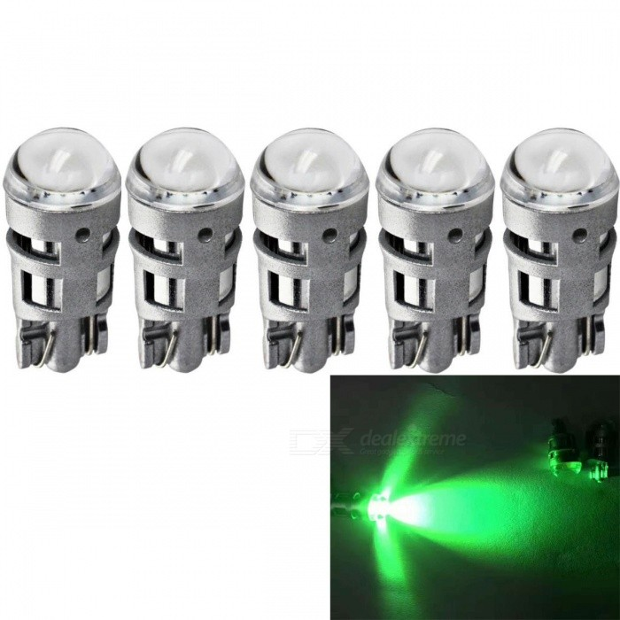 JRLED T10 2W Green Light 3030 2-SMD LED Car Reading Lamps (5 PCS)