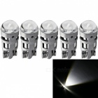 JRLED T10 2W Cool White Light 3030 2-SMD LED Car Reading Lamps (5 PCS)