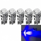 JRLED T10 2W Blue Light 3030 2-SMD LED Car Reading Lamps (5 PCS)
