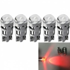 JRLED T10 2W Red Light 3030 2-SMD LED Car Reading Lamps (5 PCS)