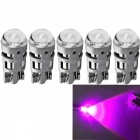 JRLED T10 2W Pink Light 3030 2-SMD LED Car Reading Lamps (5 PCS)