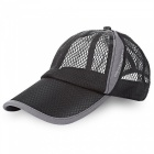 Outdoor Men And Women Sun Shade Baseball Net Cotton Hat - Black