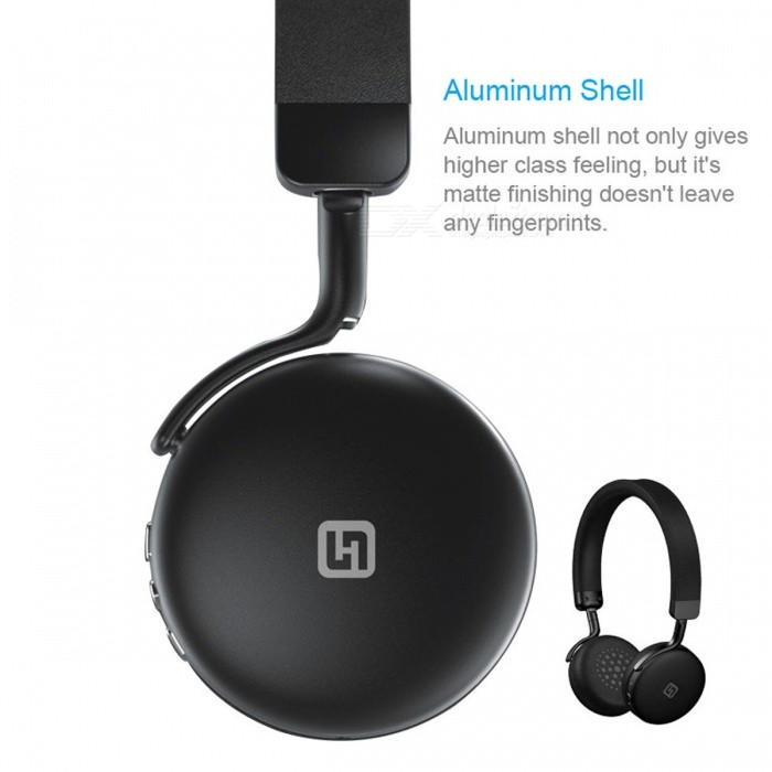 IN-Color Aluminum Shell Bluetooth Headband Headphone - Black