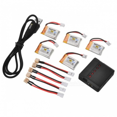 ENGPOW 3.7V 150mAh Lipo Batteries for JJRC H36 Eachine E010 (5 PCS)