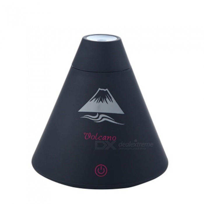 SPO Volcano Shape Mini Air Humidifier for Office Desktop - BlackAir Humidifiers<br>Form  ColorBlackModelSX698MaterialABSQuantity1 DX.PCM.Model.AttributeModel.UnitShade Of ColorBlackMode Setting2Humidification TypeElectrical Heating,Cold FogCapacity160MLContinuous Humidification time2 hoursSuited SpaceDesk RoomPower AdapterOthers,USBPower1.5-2 DX.PCM.Model.AttributeModel.UnitPacking List1 x Volcano Humidifier1 x USB Cable<br>