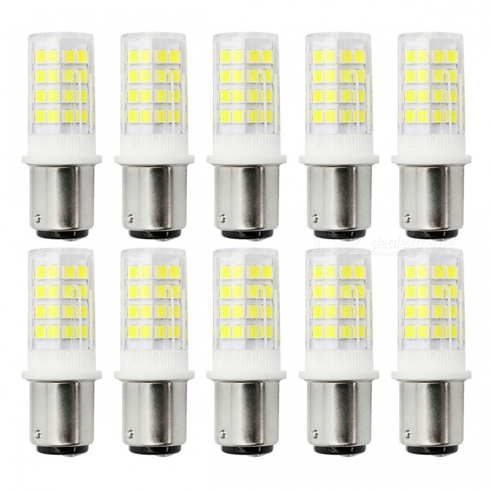 YWXLight 10PCS BA15D 2835 Lampes LED à froid blanc Double baïonnette