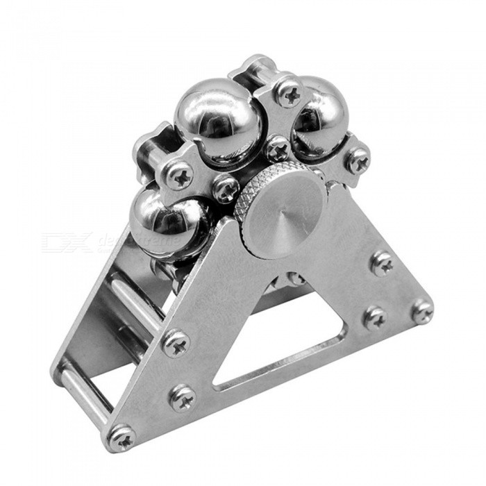 OJADE Wheel Fingertip Gyroscope Alloy Spinning Pressure Reducing ToyFinger Toys<br>Form  ColorSilverMaterialMetalQuantity1 DX.PCM.Model.AttributeModel.UnitSuitable Age 8-11 years,12-15 years,Grown upsPacking List1 x Spinner<br>
