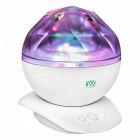 YWXLight Colorful Night Light Projector with Music Speaker - White