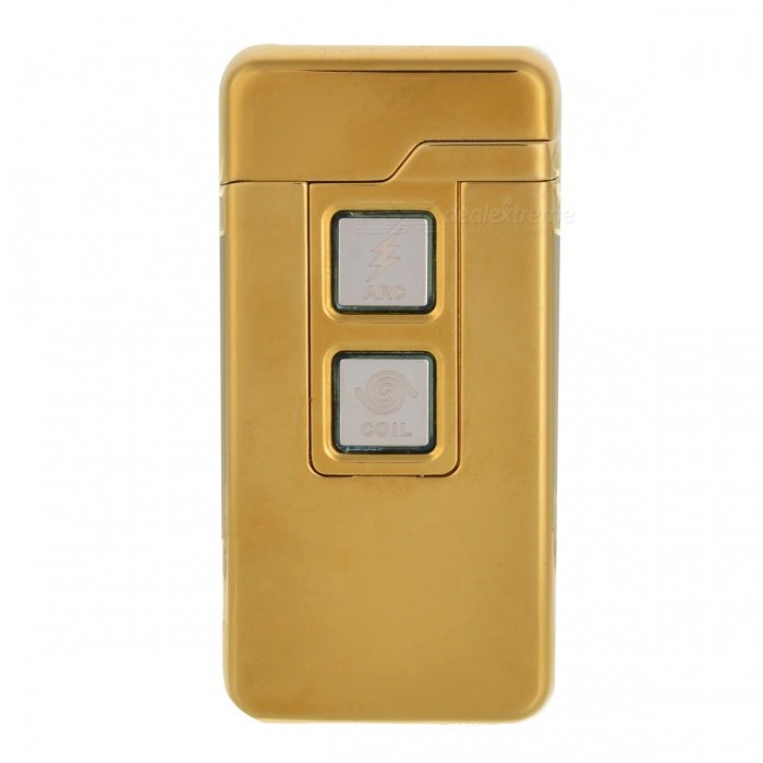 ZHAOYAO USB Charging Tungsten Filament Arc Lighter - GoldenOther Lighters<br>Form  ColorGoldenMaterialZinc alloyQuantity1 pieceShade Of ColorGoldTypeUSBWindproofYesPower SupplyLithium batteryCharging Time1-2 hoursPacking List1 x Lighter1 x USB cable<br>