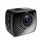 KICCY 30m Vattentät 8MP 360 Panoramic Sports Camera - Svart