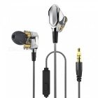 Armature Dual Dynamic Driver In-ear Wired Earphone - Silver