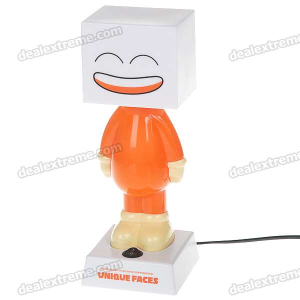 Unique Cute Dual-Face Cartoon Figure Desk Lamp - Orange (AC 110V)
