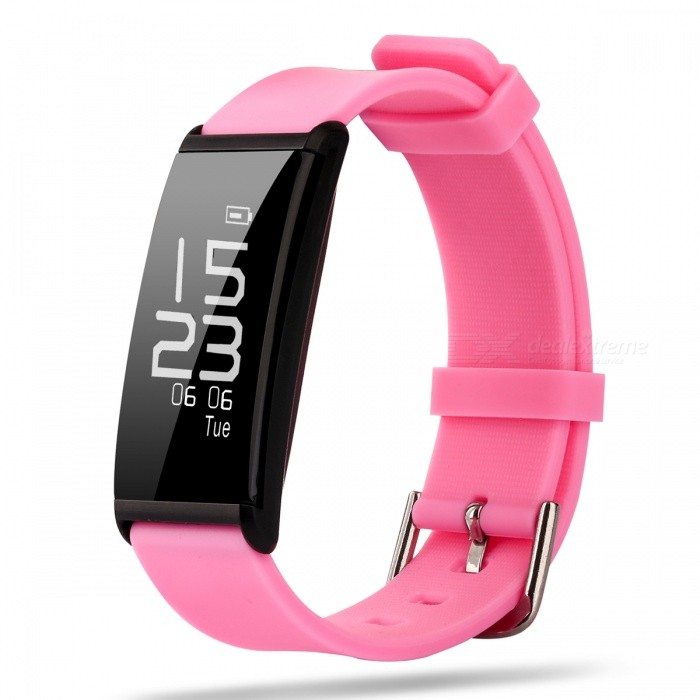 X9 IP67 Waterproof 0.96 Smart Bracelet Watch for Sports - PinkSmart Bracelets<br>Form  ColorPinkQuantity1 pieceMaterialSiliconeShade Of ColorPinkWater-proofIP67Bluetooth VersionBluetooth V4.0Touch Screen TypeYesOperating SystemAndroid 4.3.1,Android 4.4,Android 4.4.1,Android 4.4.2,Android 4.3,iOSCompatible OSAndroid/IOSBattery Capacity60 mAhBattery TypeLi-ion batteryStandby Time15 daysPacking List1 x Smart Bracelet1 x Charging Cable<br>