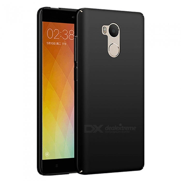 Naxtop PC Hard Protective Back Case for Xiaomi Redmi 4 - BlackPlastic Cases<br>Form  ColorBlackModelN/AMaterialPCQuantity1 DX.PCM.Model.AttributeModel.UnitShade Of ColorBlackCompatible ModelsXiaomi Redmi 4 (3GB+32GB)FeaturesDust-proof,Shock-proof,Abrasion resistance,Easy-to-removePacking List1 x Case<br>