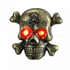 ZHAOYAO Skull Head Style USB Electronic Lighter with LED - Yellow