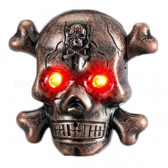 ZHAOYAO Skull Head Style USB Electronic Lighter with LED - BronzeOther Lighters<br>Form  ColorAntique BrassQuantity1 pieceShade Of ColorRedTypeUSBPower SupplyLithium batteryCharging Time2 hoursPacking List1 x Lighter1 x Data line<br>