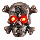 ZHAOYAO Skull Head Style USB Electronic Lighter with LED - Bronze