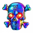 ZHAOYAO Skull Head Style USB Electronic Lighter with LED - Colorful