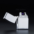 ZHAOYAO Windproof Double Pulsed Arc Slim USB Lighter - Silver