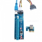 Dayspirit PCI-E USB 3.0 1X to 16X Extension Cable - Blue