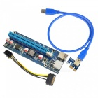Dayspirit USB 3.0 PCIE 1X To 16X 6Pin Extender Riser Card Adapter