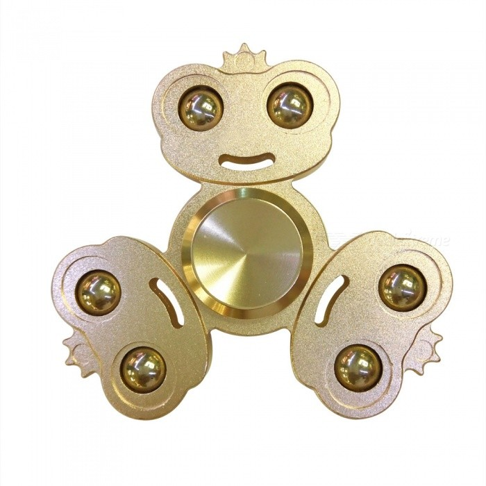 Dayspirit Frog Prince Style Fidget Releasing Hand Spinner - GoldenFinger Toys<br>Form  ColorGoldenMaterialAlloyQuantity1 pieceSuitable Age 5-7 years,8-11 years,12-15 years,Grown upsPacking List1 x Spinner<br>
