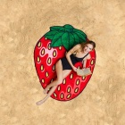 Outdoor Microfiber Polyester Impression 3D Strawberry Pattern Serviette de plage Sunscreen Shawl