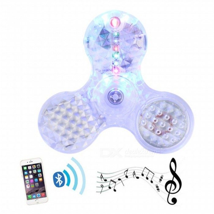 SPO Tri- Shaped Fingertips Gyro Toy with Colourful LED Light